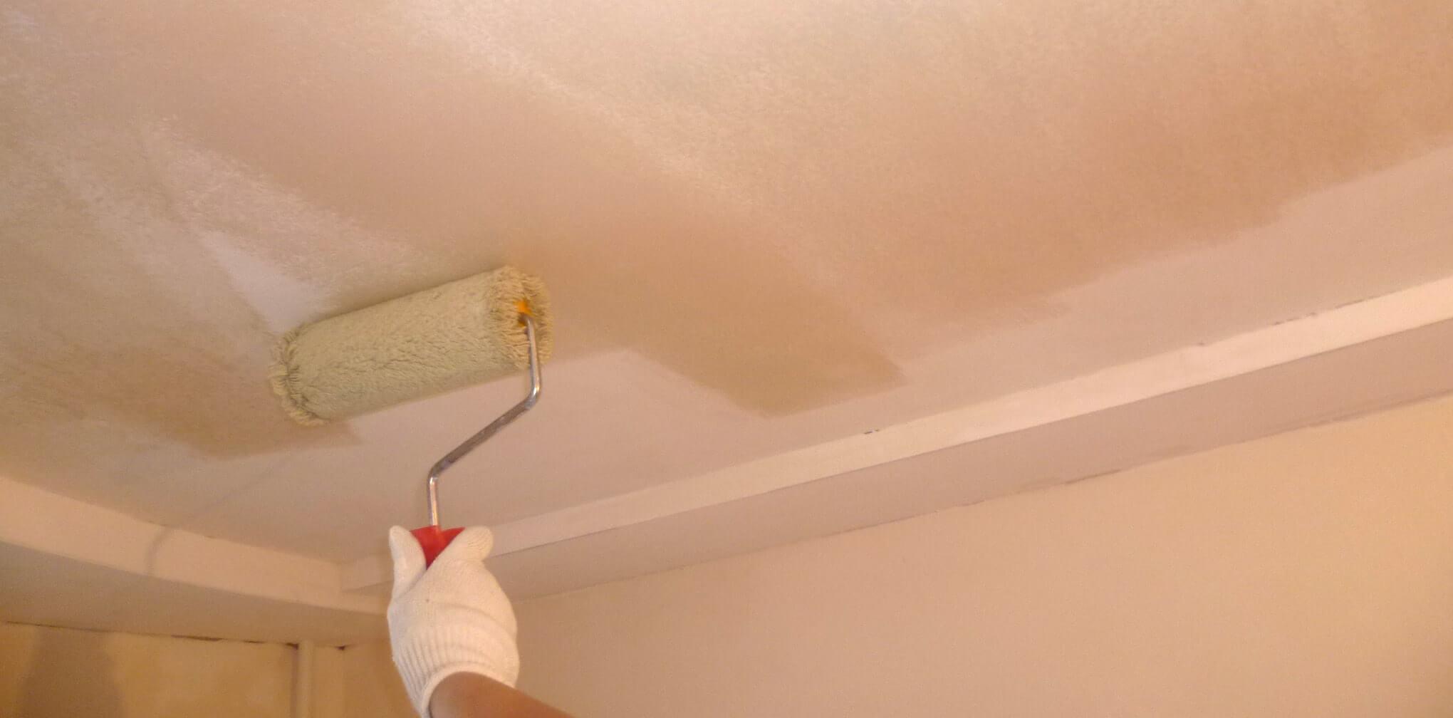 Грунтовка перед покраской потолка