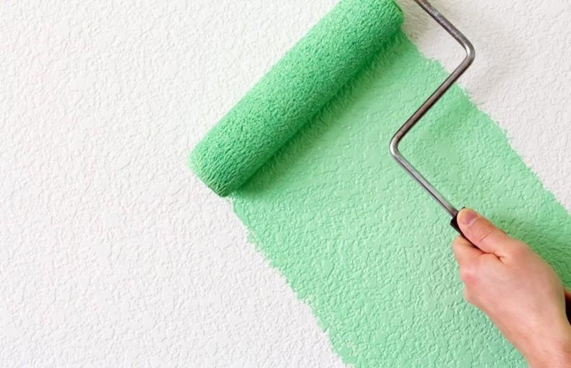 как красить стены валиком