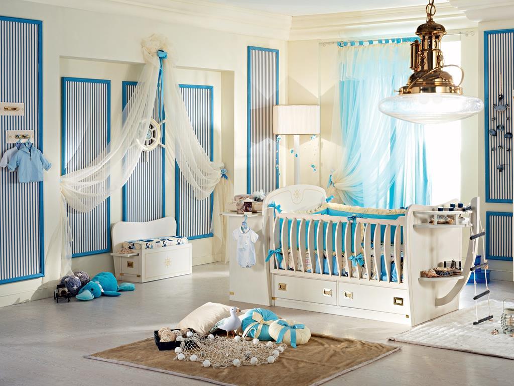 Бежевая детская комната