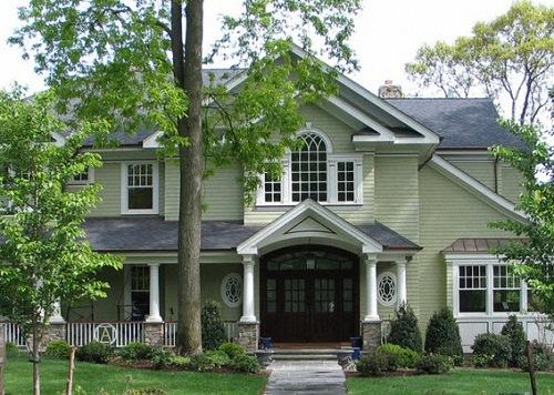 Модные цвета фасадов домов